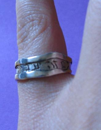 Complement your Hebrew tattoo with a beautiful Hebrew inscription on a ring